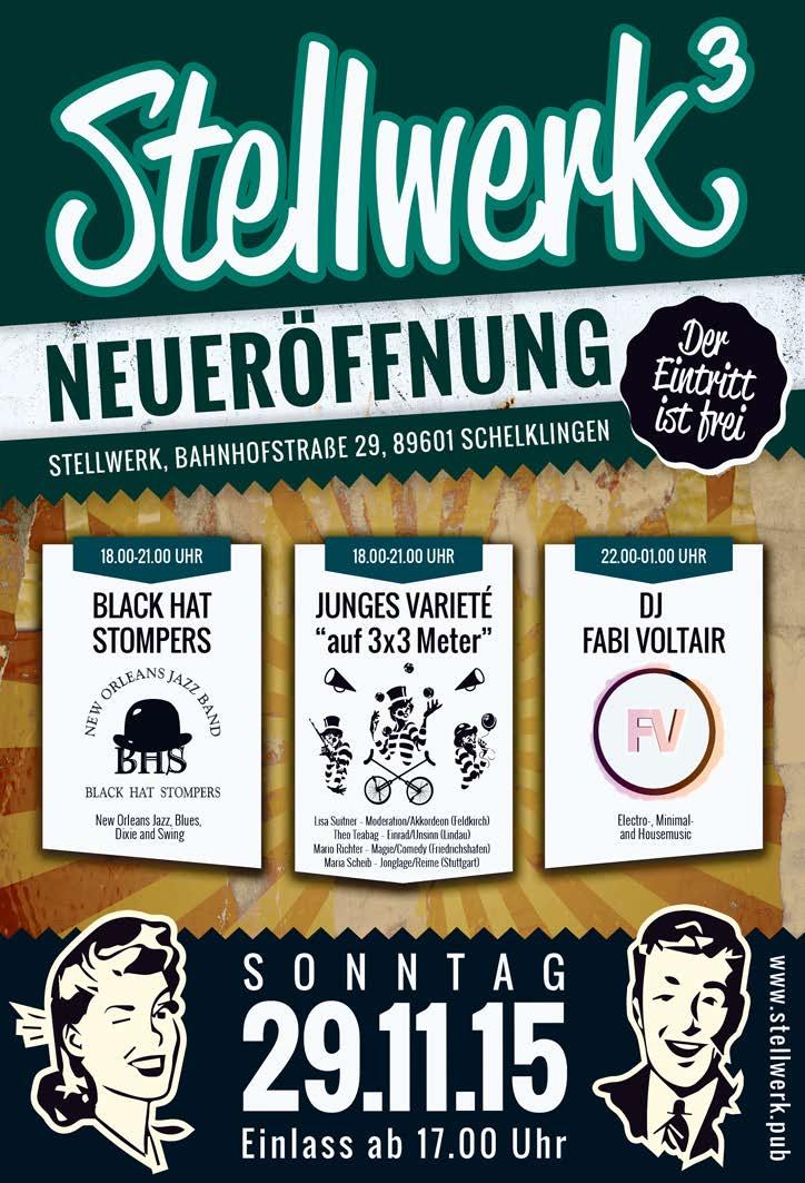 Plakat Eröffnung Stellwerk Schelklingen